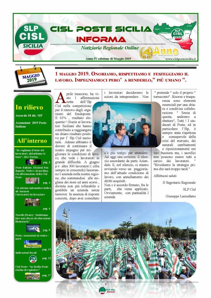 Cisl Poste Sicilia Informa maggio 2019_Pagina_01