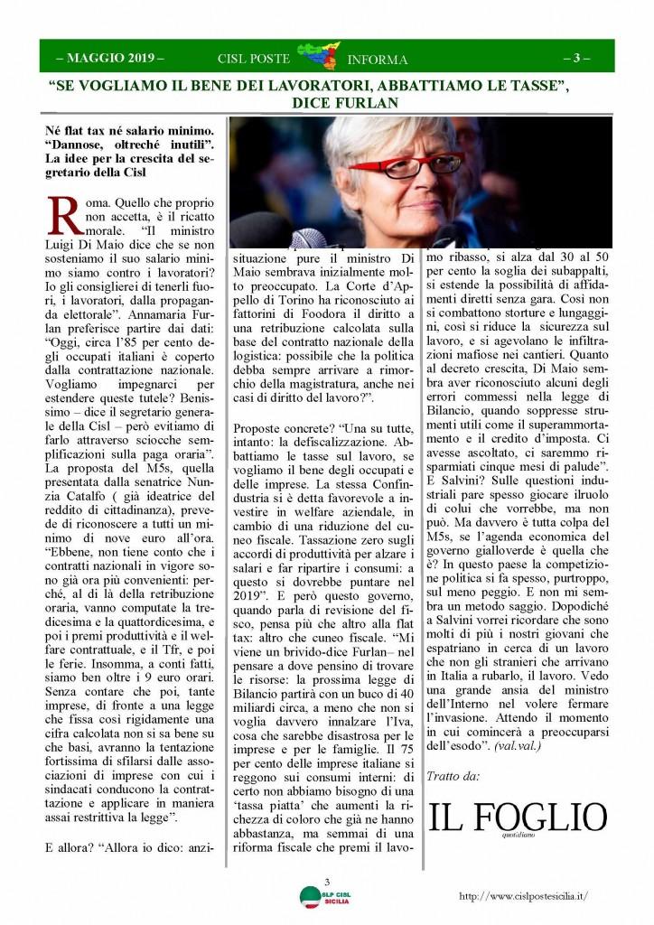 Cisl Poste Sicilia Informa maggio 2019_Pagina_03