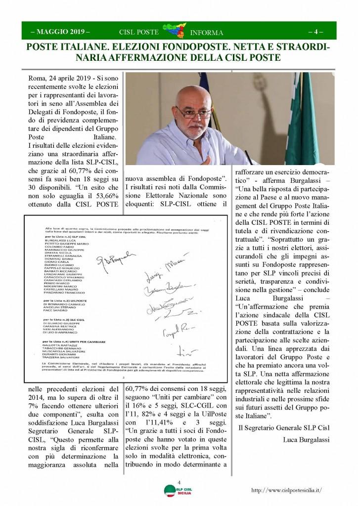 Cisl Poste Sicilia Informa maggio 2019_Pagina_04