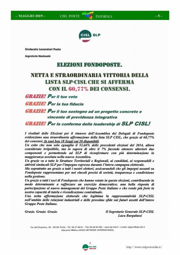 Cisl Poste Sicilia Informa maggio 2019_Pagina_05