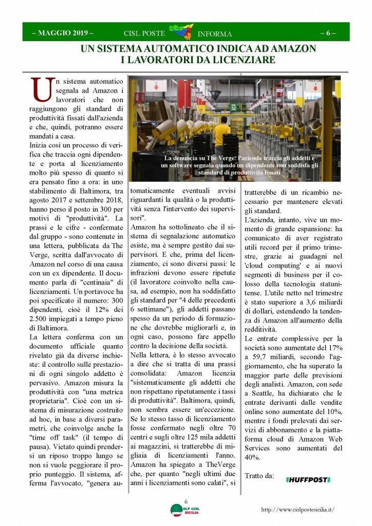 Cisl Poste Sicilia Informa maggio 2019_Pagina_06