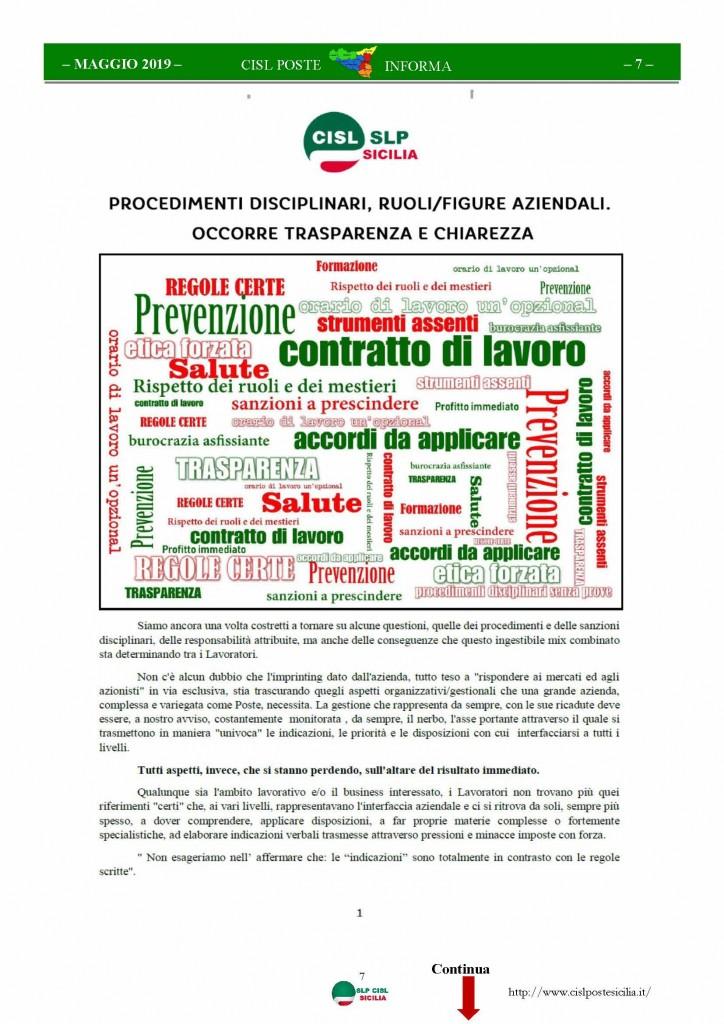 Cisl Poste Sicilia Informa maggio 2019_Pagina_07