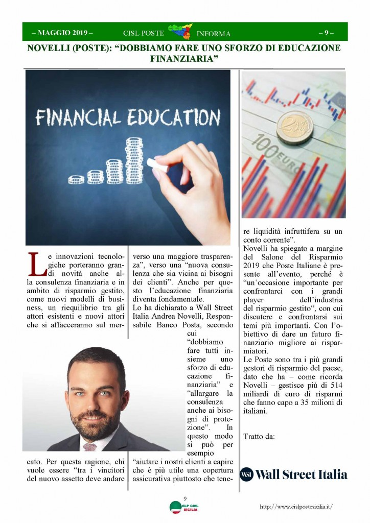 Cisl Poste Sicilia Informa maggio 2019_Pagina_09