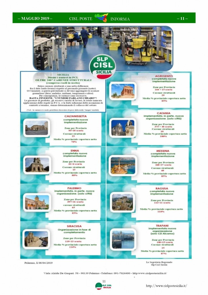 Cisl Poste Sicilia Informa maggio 2019_Pagina_11