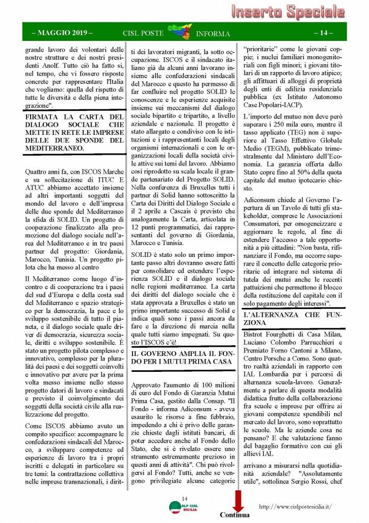 Cisl Poste Sicilia Informa maggio 2019_Pagina_14