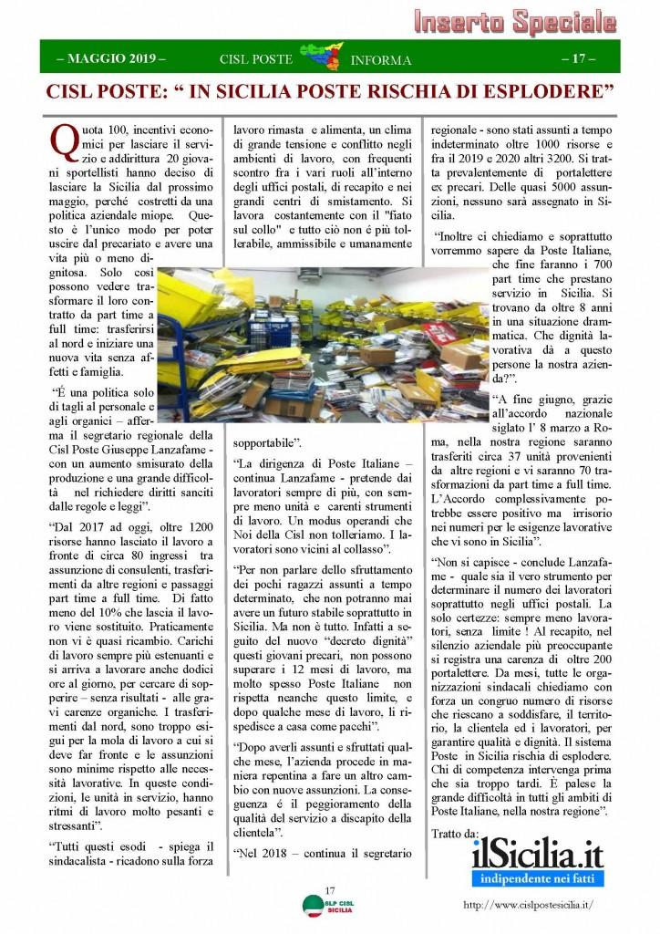 Cisl Poste Sicilia Informa maggio 2019_Pagina_17