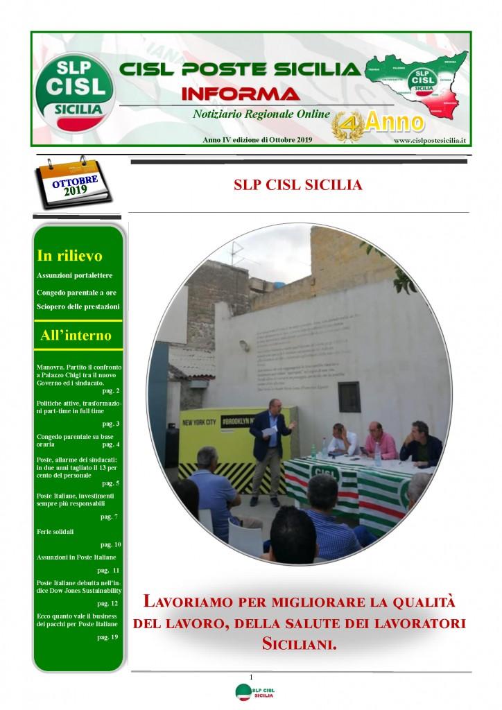Cisl Poste Sicilia Informa ottobre 2019_Pagina_01