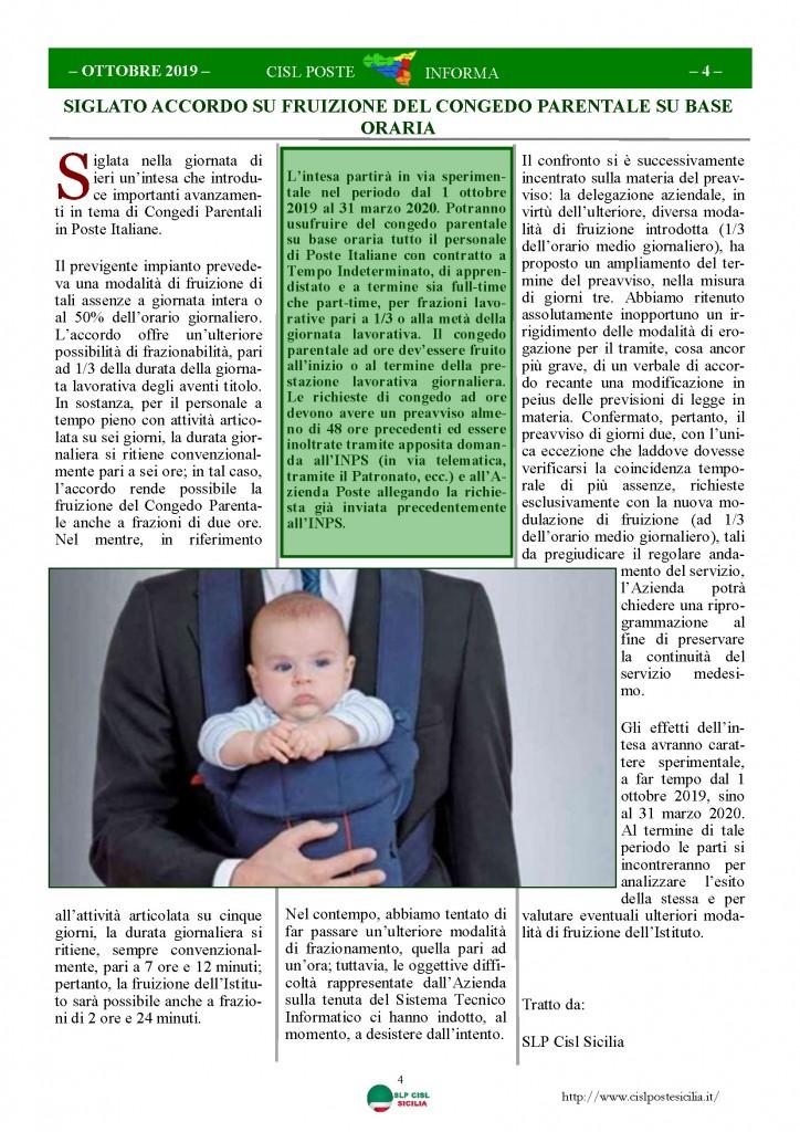 Cisl Poste Sicilia Informa ottobre 2019_Pagina_04
