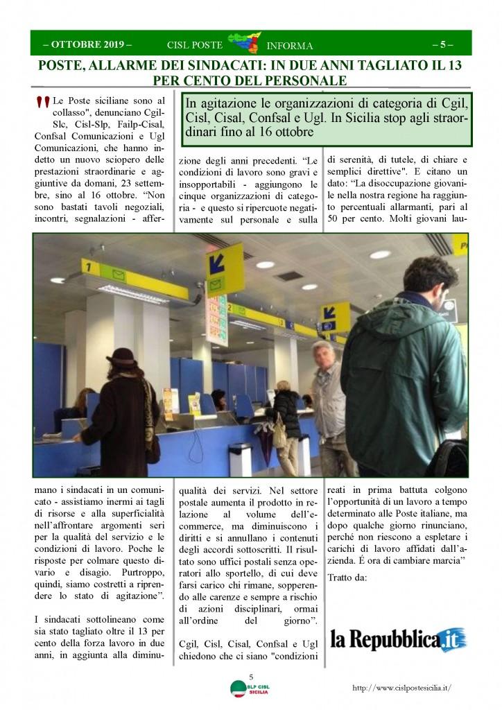 Cisl Poste Sicilia Informa ottobre 2019_Pagina_05
