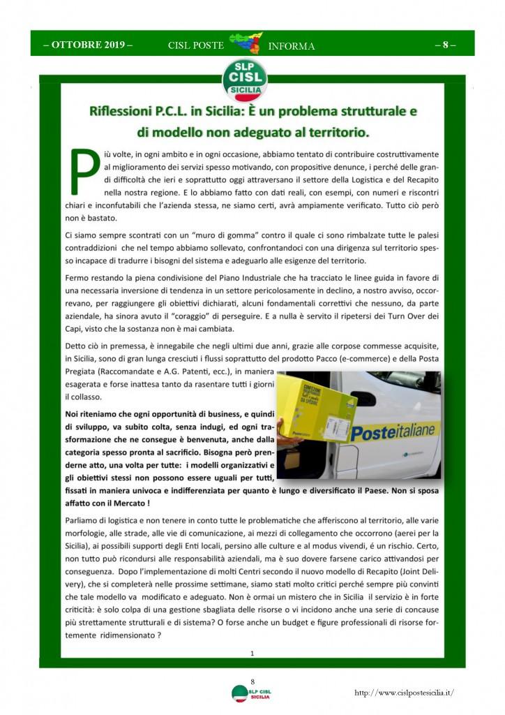 Cisl Poste Sicilia Informa ottobre 2019_Pagina_08