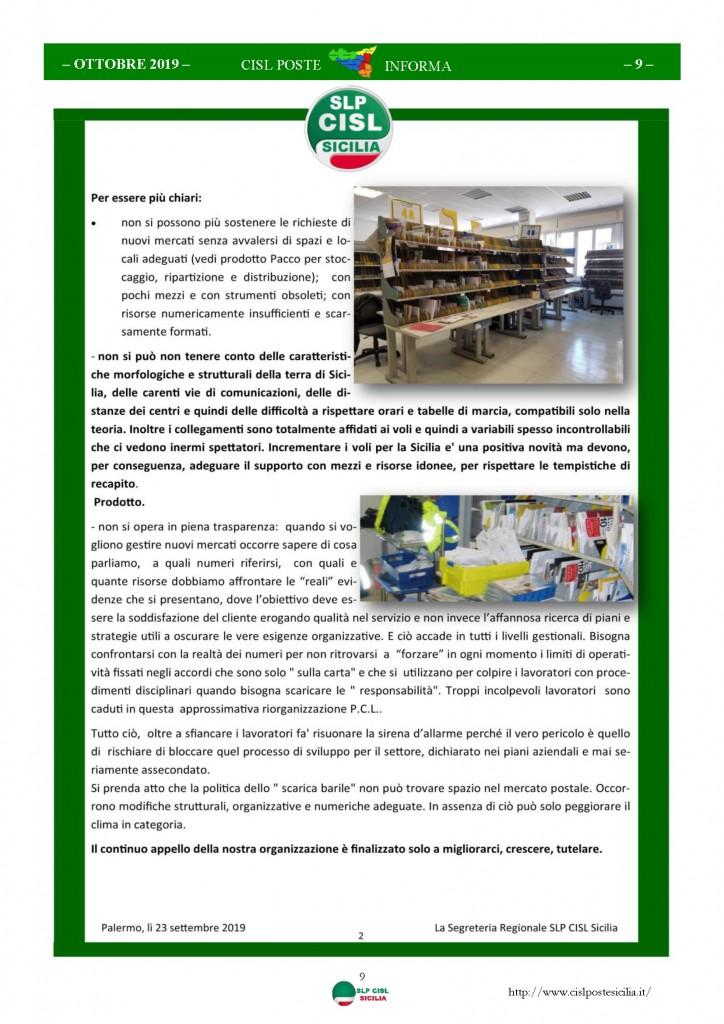 Cisl Poste Sicilia Informa ottobre 2019_Pagina_09
