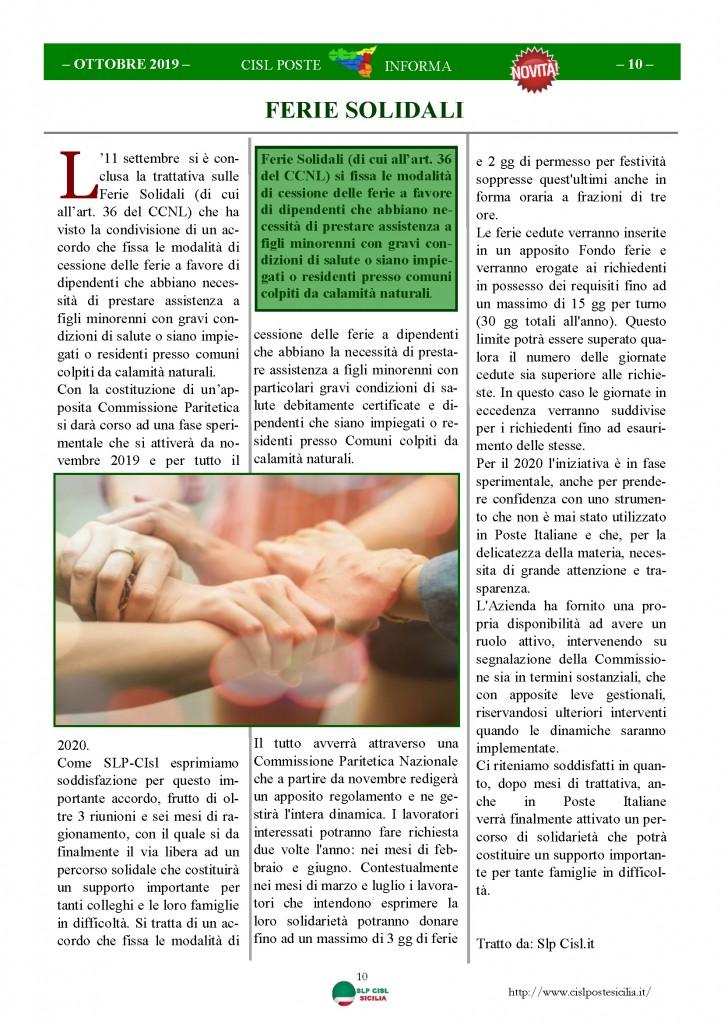 Cisl Poste Sicilia Informa ottobre 2019_Pagina_10