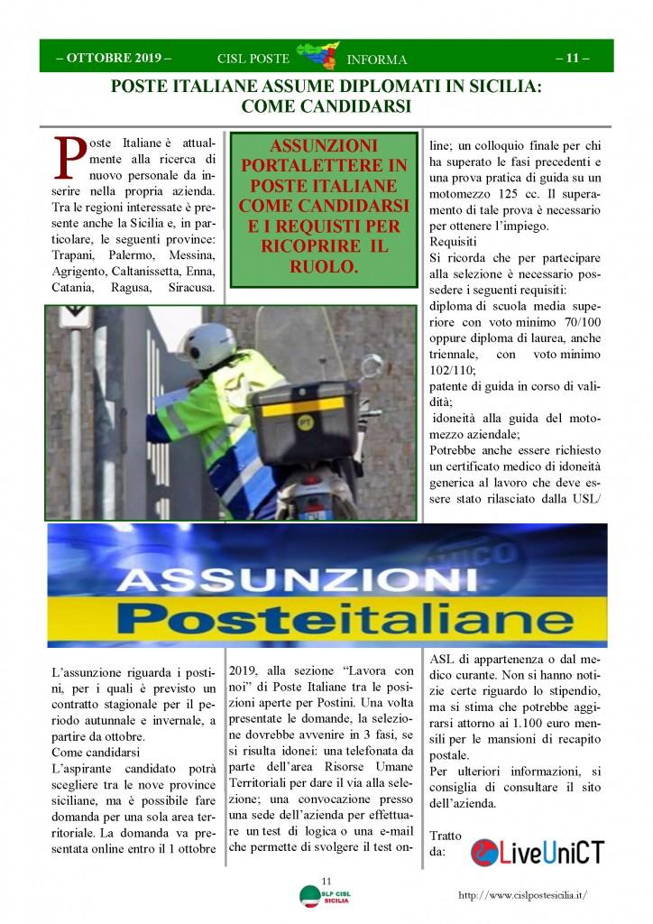 Cisl Poste Sicilia Informa ottobre 2019_Pagina_11