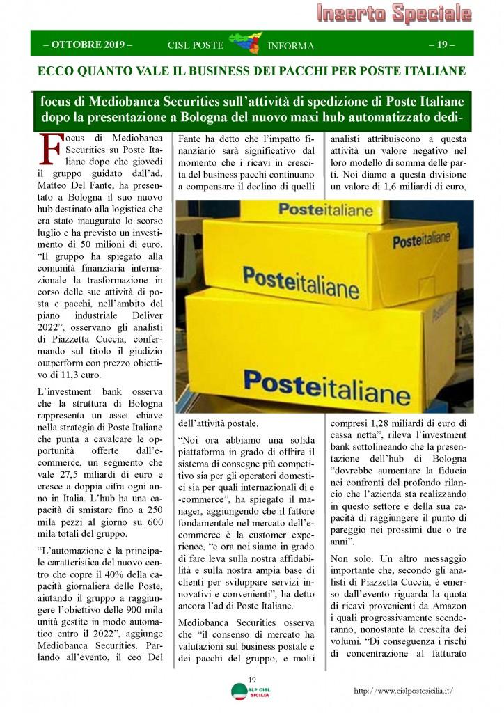 Cisl Poste Sicilia Informa ottobre 2019_Pagina_19