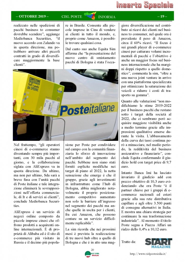 Cisl Poste Sicilia Informa ottobre 2019_Pagina_20