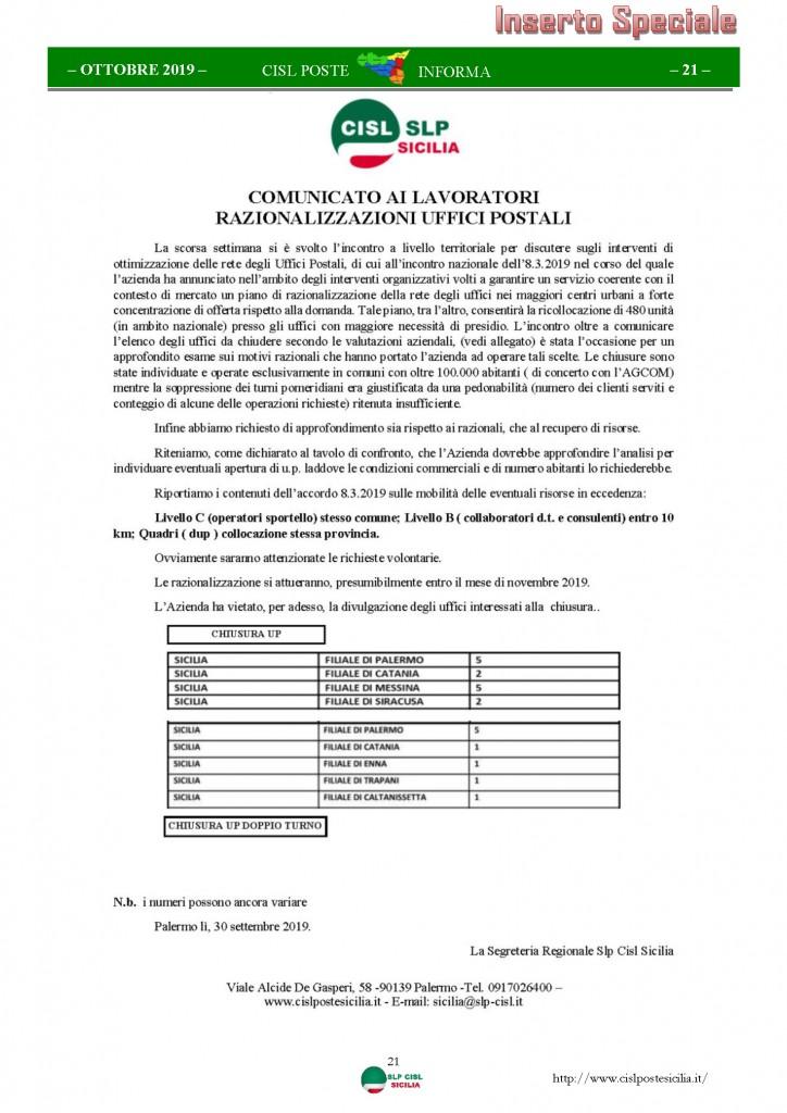 Cisl Poste Sicilia Informa ottobre 2019_Pagina_21