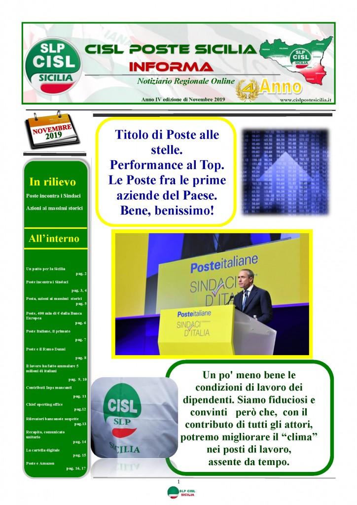 Cisl Poste Sicilia Informa novembre 2019_Pagina_01