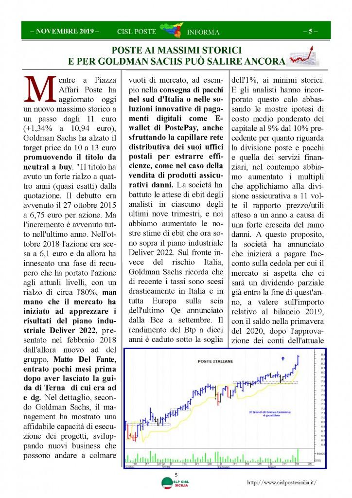 Cisl Poste Sicilia Informa novembre 2019_Pagina_05