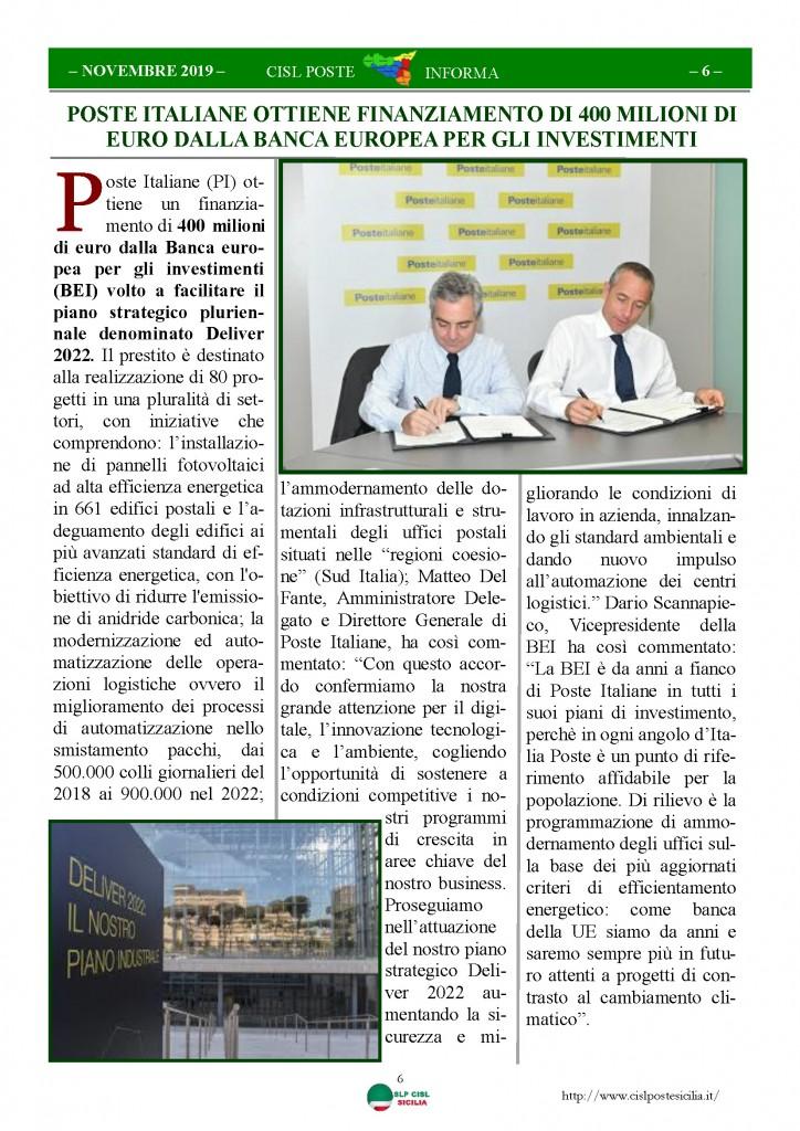 Cisl Poste Sicilia Informa novembre 2019_Pagina_06