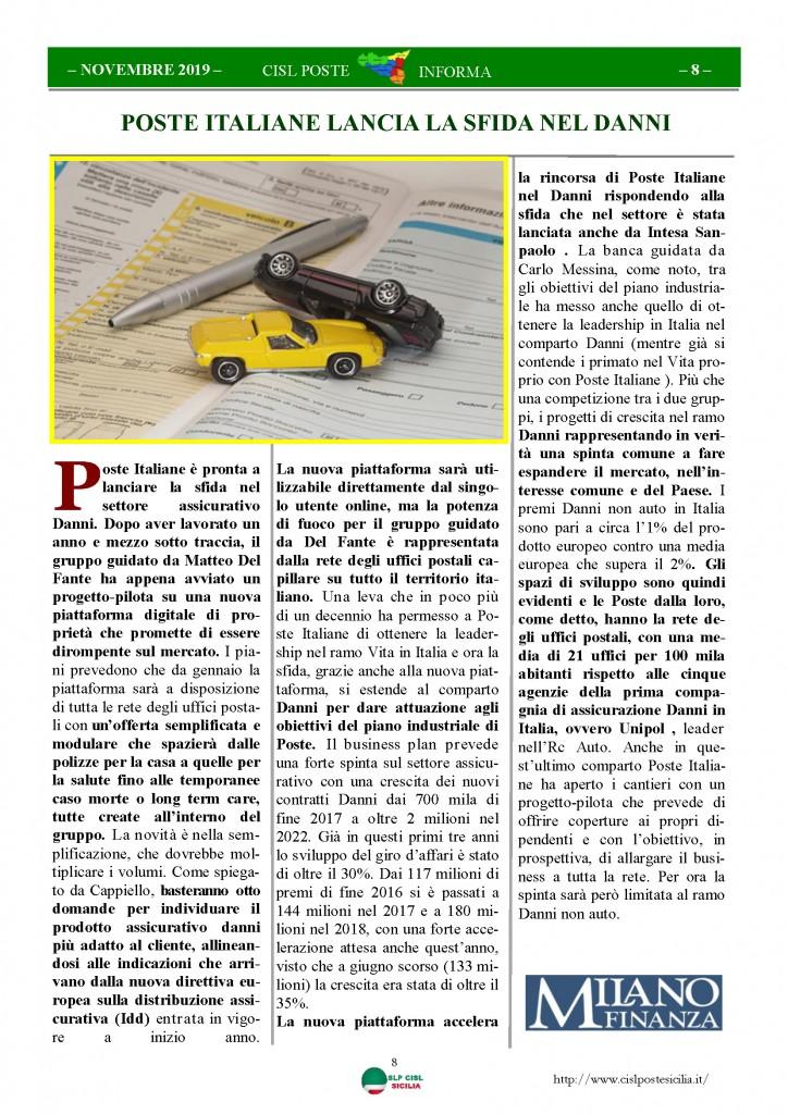 Cisl Poste Sicilia Informa novembre 2019_Pagina_08