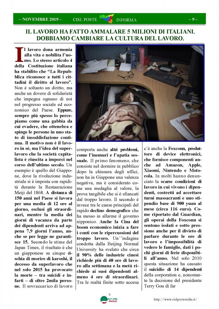 Cisl Poste Sicilia Informa novembre 2019_Pagina_09