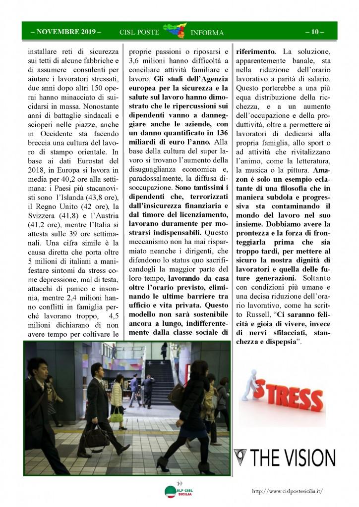 Cisl Poste Sicilia Informa novembre 2019_Pagina_10