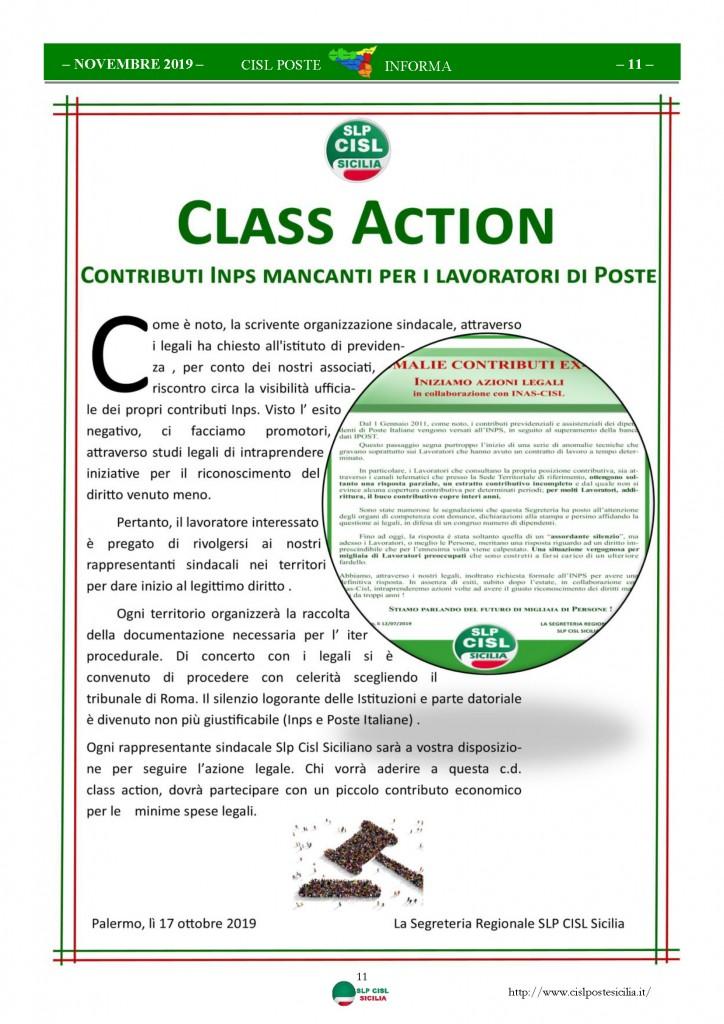 Cisl Poste Sicilia Informa novembre 2019_Pagina_11
