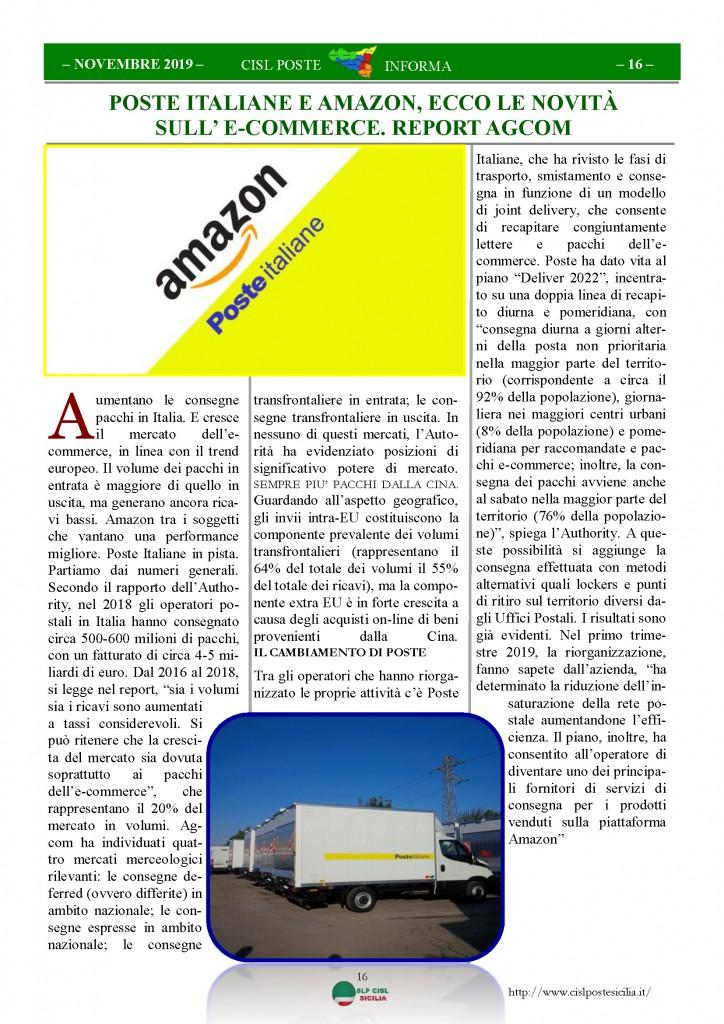 Cisl Poste Sicilia Informa novembre 2019_Pagina_16