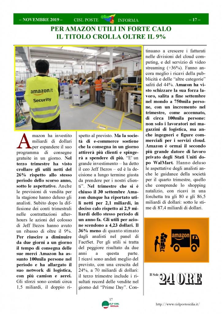 Cisl Poste Sicilia Informa novembre 2019_Pagina_17