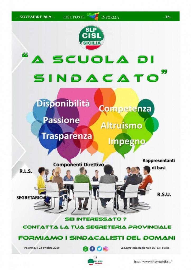Cisl Poste Sicilia Informa novembre 2019_Pagina_18