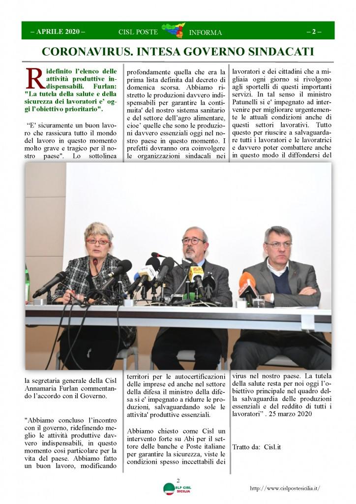 Cisl Poste Sicilia Informa Aprile 2020 _Pagina_02