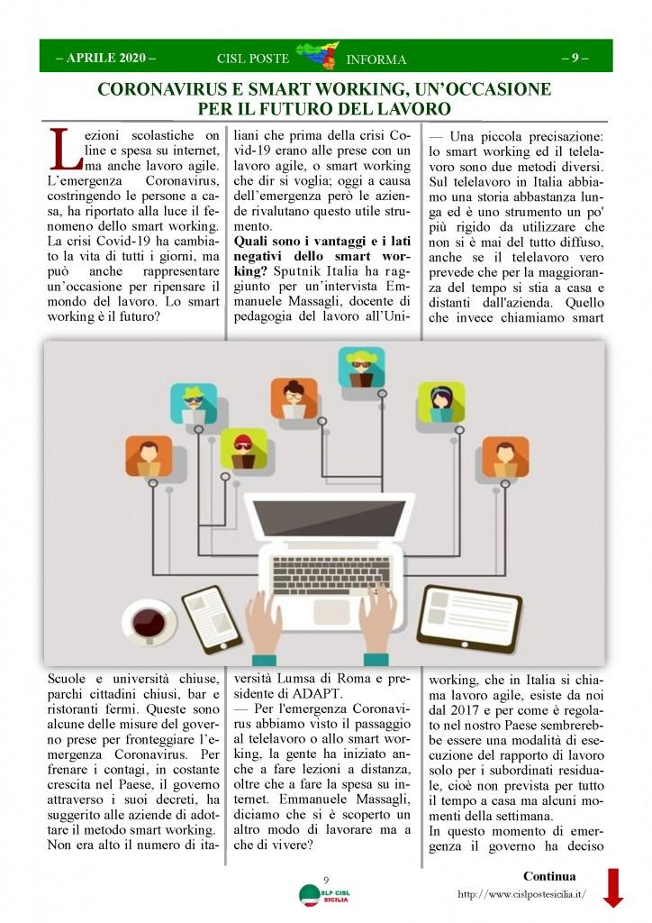 Cisl Poste Sicilia Informa Aprile 2020 _Pagina_09