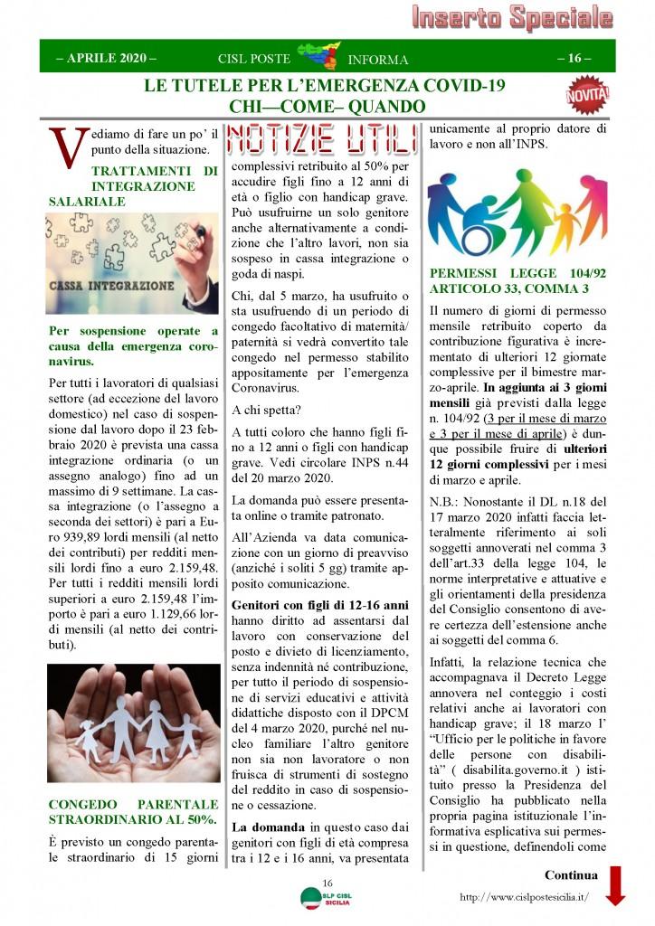 Cisl Poste Sicilia Informa Aprile 2020 _Pagina_16