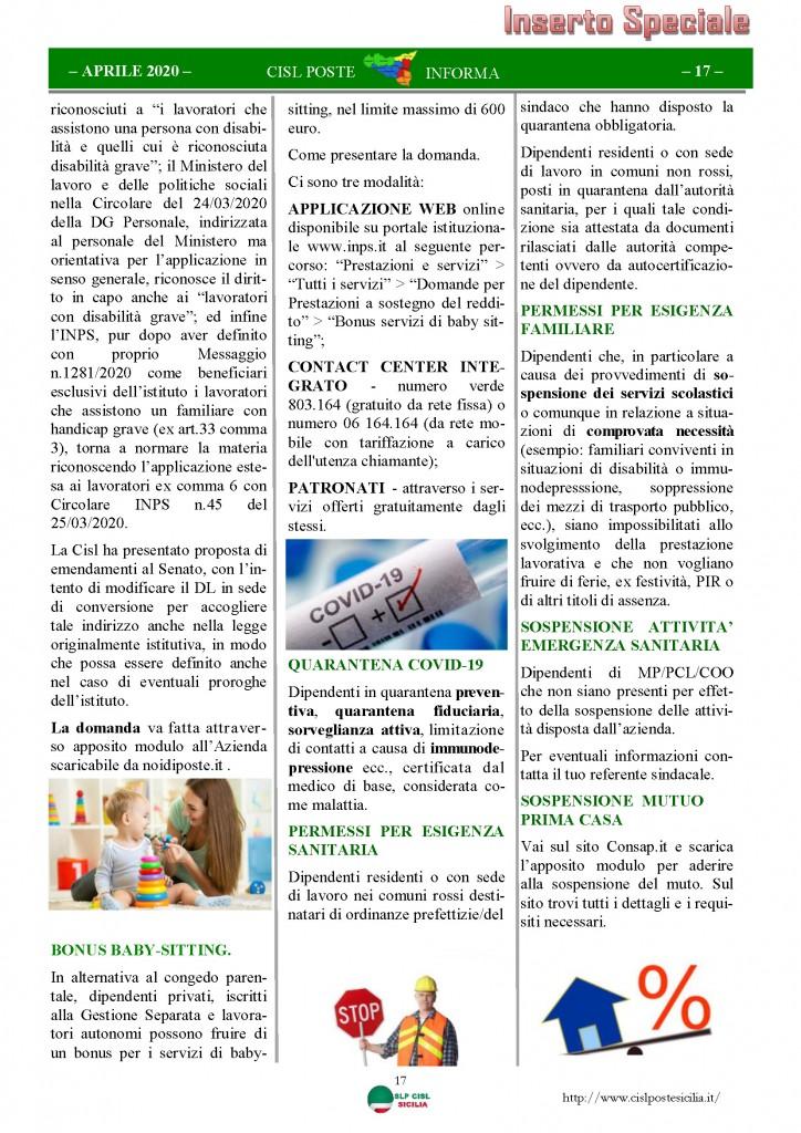 Cisl Poste Sicilia Informa Aprile 2020 _Pagina_17