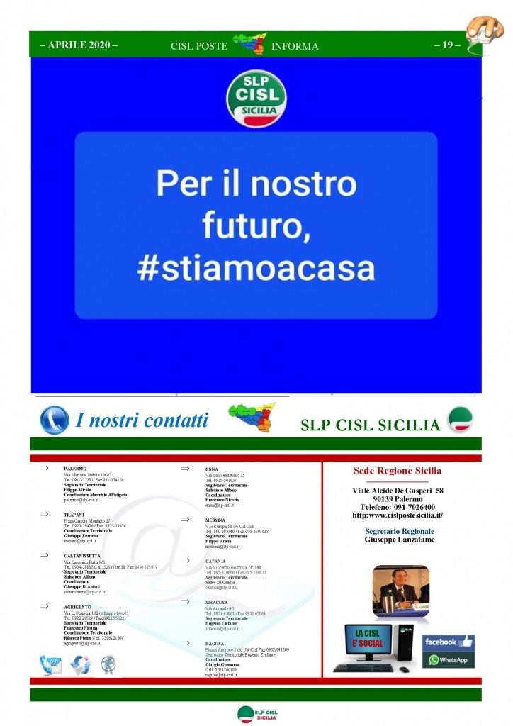 Cisl Poste Sicilia Informa Aprile 2020 _Pagina_19