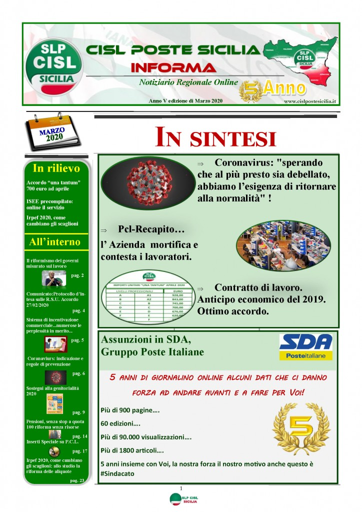 Cisl Poste Sicilia Informa Marzo 2020 _Pagina_01