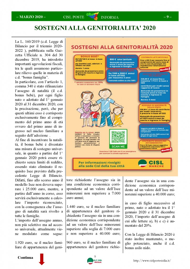 Cisl Poste Sicilia Informa Marzo 2020 _Pagina_09