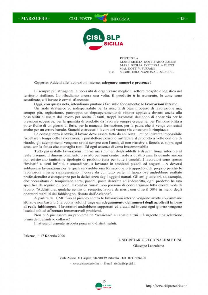 Cisl Poste Sicilia Informa Marzo 2020 _Pagina_13