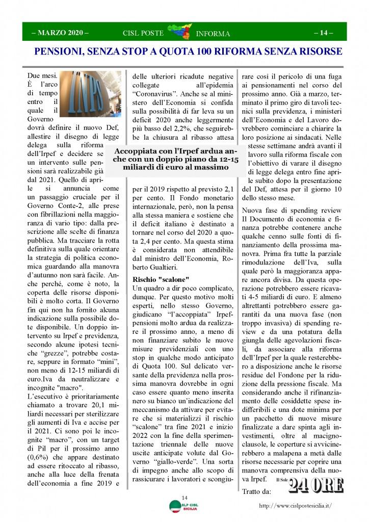 Cisl Poste Sicilia Informa Marzo 2020 _Pagina_14