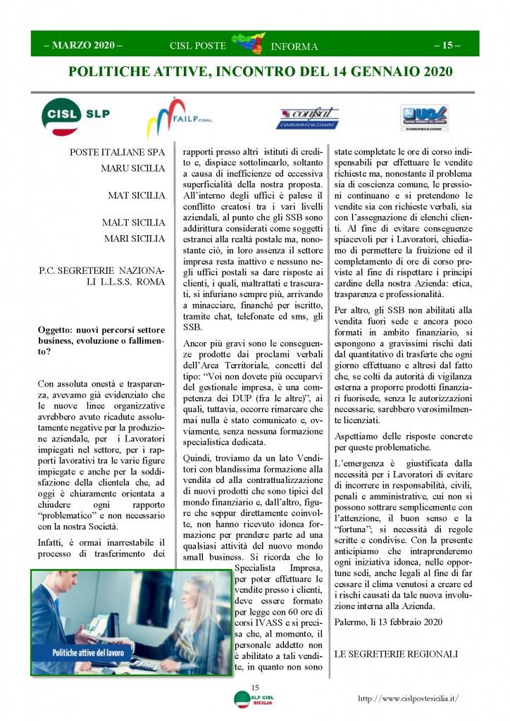 Cisl Poste Sicilia Informa Marzo 2020 _Pagina_15