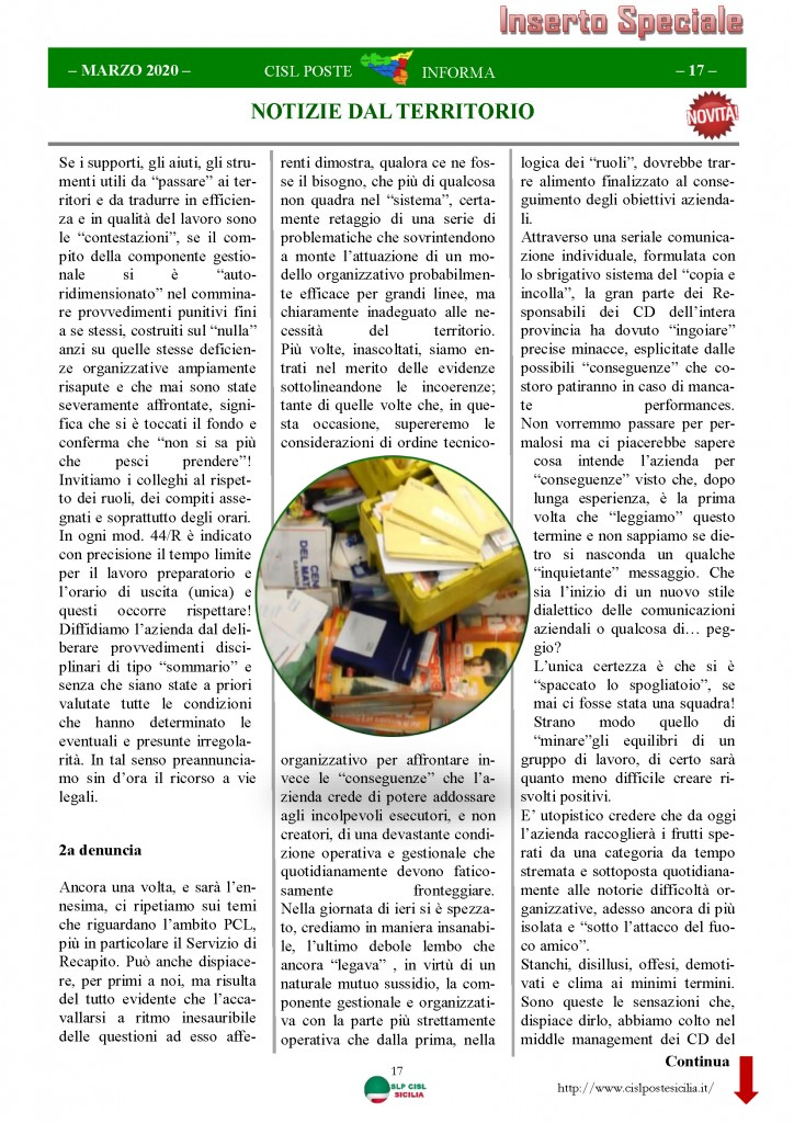 Cisl Poste Sicilia Informa Marzo 2020 _Pagina_17
