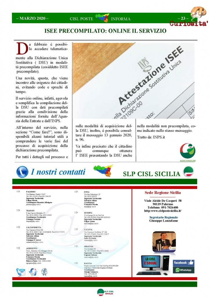 Cisl Poste Sicilia Informa Marzo 2020 _Pagina_23