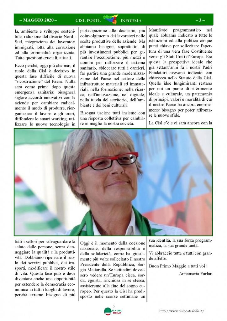Cisl Poste Sicilia Informa Maggio 2020 _Pagina_03