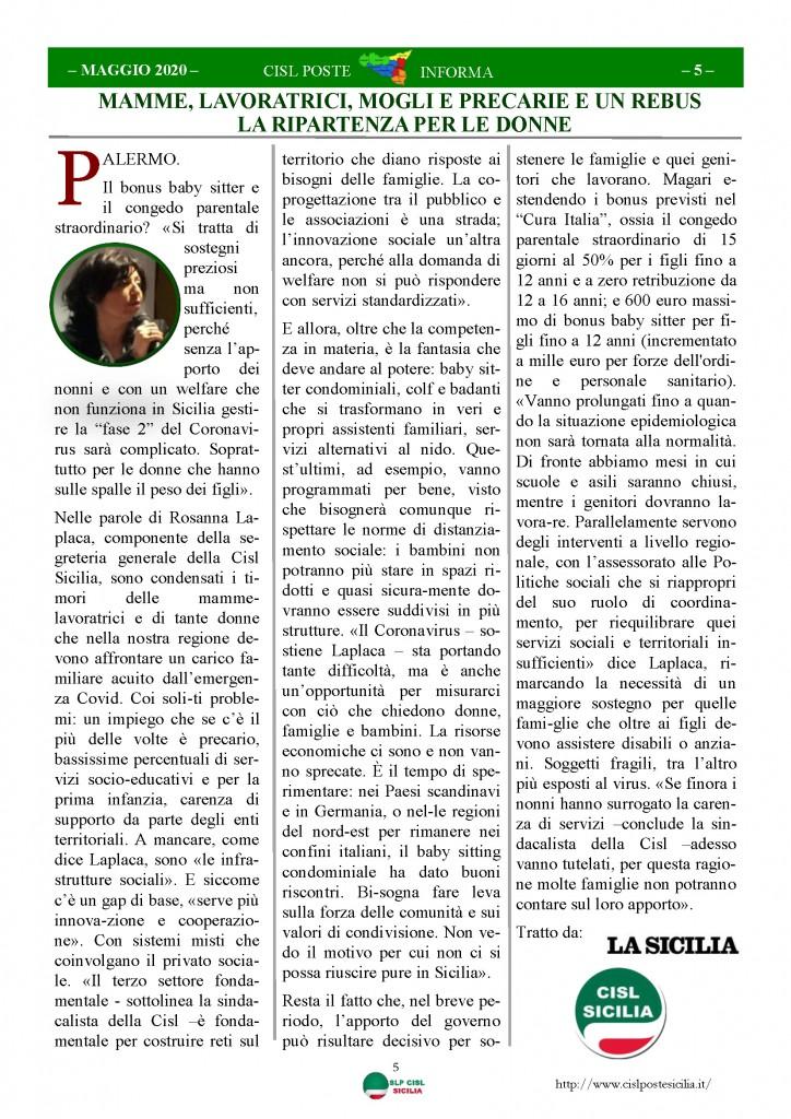 Cisl Poste Sicilia Informa Maggio 2020 _Pagina_05