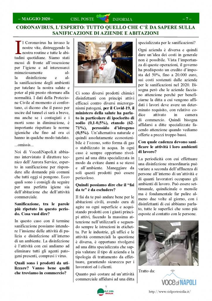 Cisl Poste Sicilia Informa Maggio 2020 _Pagina_07