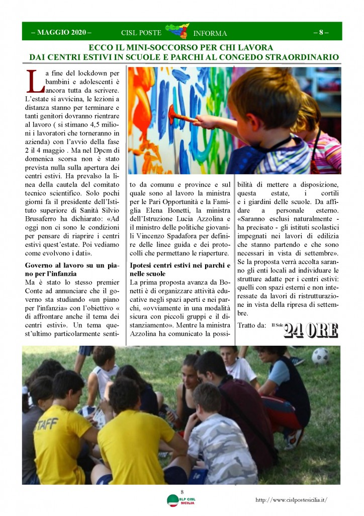 Cisl Poste Sicilia Informa Maggio 2020 _Pagina_08
