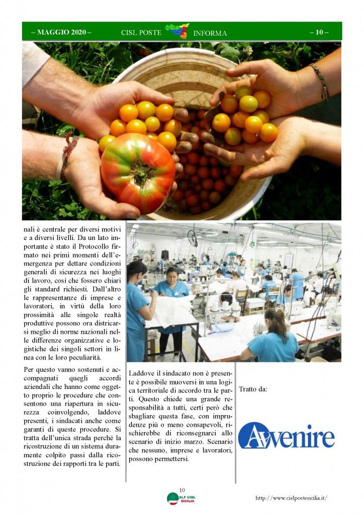 Cisl Poste Sicilia Informa Maggio 2020 _Pagina_10