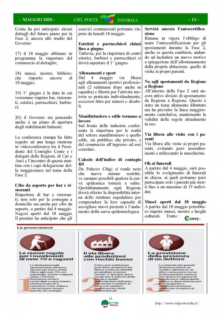 Cisl Poste Sicilia Informa Maggio 2020 _Pagina_13
