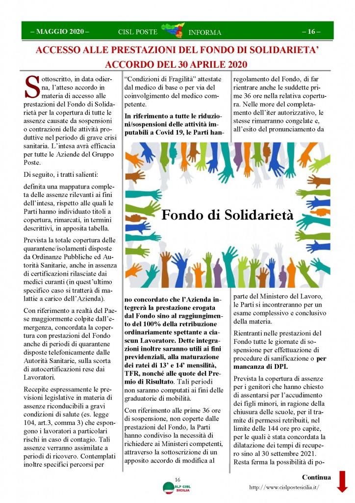 Cisl Poste Sicilia Informa Maggio 2020 _Pagina_16