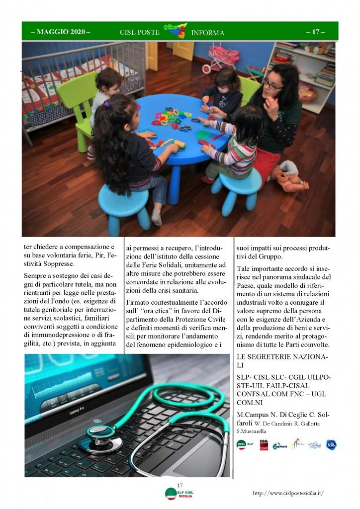 Cisl Poste Sicilia Informa Maggio 2020 _Pagina_17